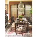 Tommy Bahama Home Landara Pelican Hill Rectangular Dining Table with Two Table Leaves