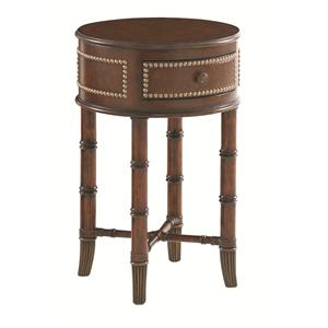 Tommy Bahama Home Landara Bandera Leather Accent Table
