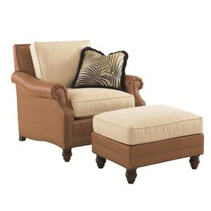 Tommy Bahama Home Landara Shoal Creek Chair and Ottoman Set