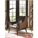 Tommy Bahama Home Landara Las Palmas Chair with Rattan Back and Bamboo Detailing