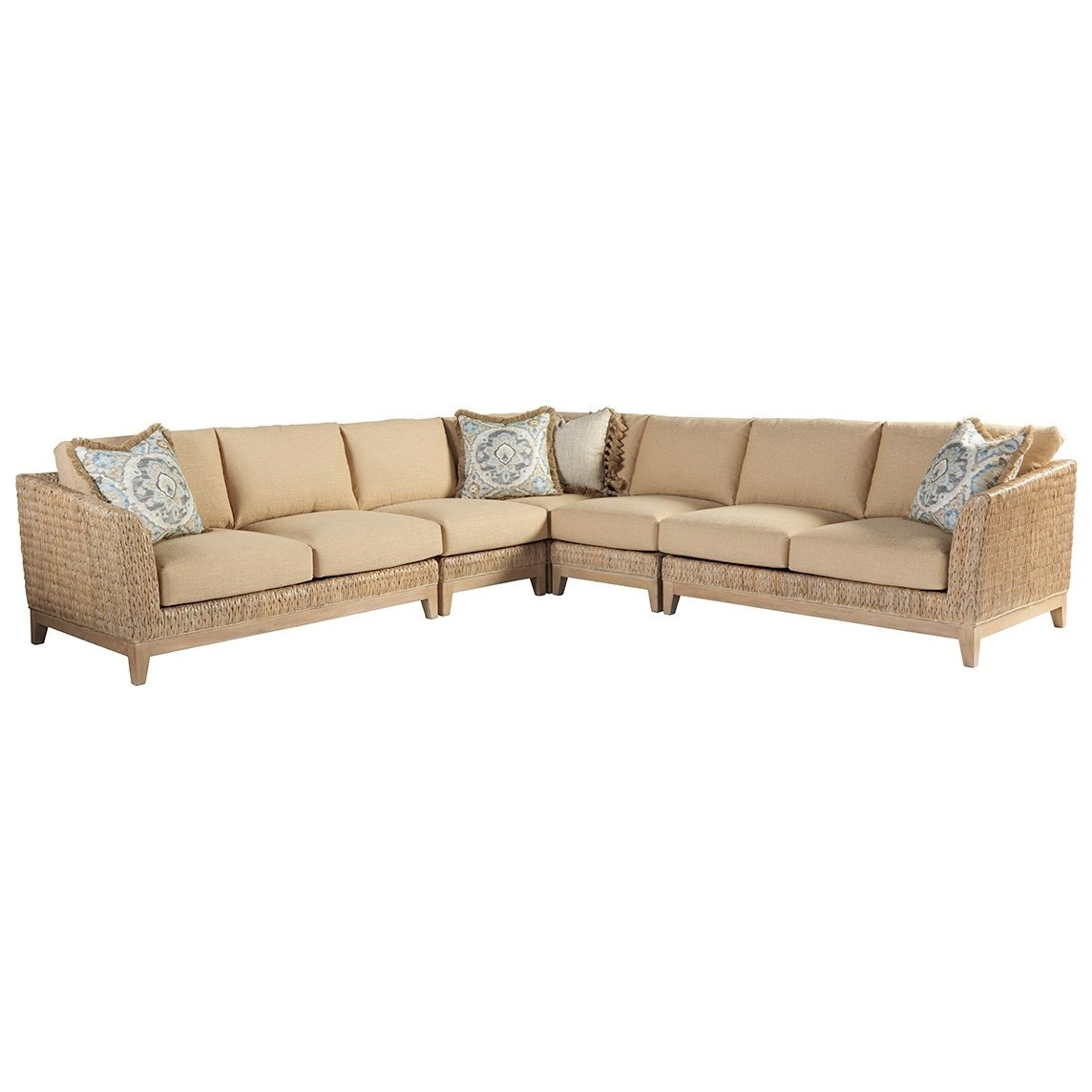 Los Altos Brisbane 5 Pc Sectional by Tommy Bahama Home at Baer's Furniture