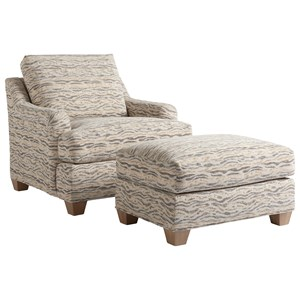 Tommy Bahama Home Los Altos Barton Chair & Ottoman Set