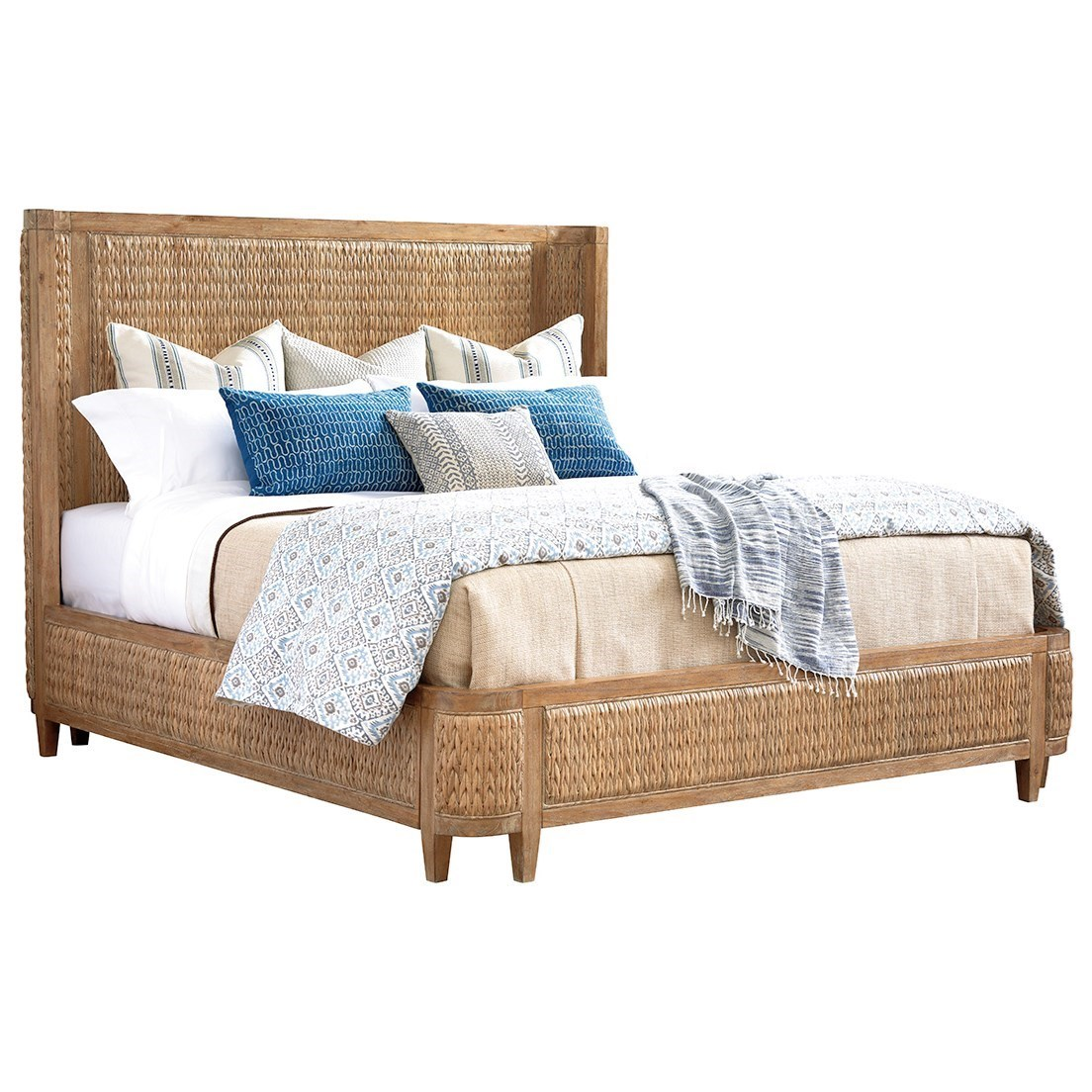 Tommy Bahama Home Los Altos Ivory Coast Woven Bed 5/0 Queen - Item Number: 566-133C