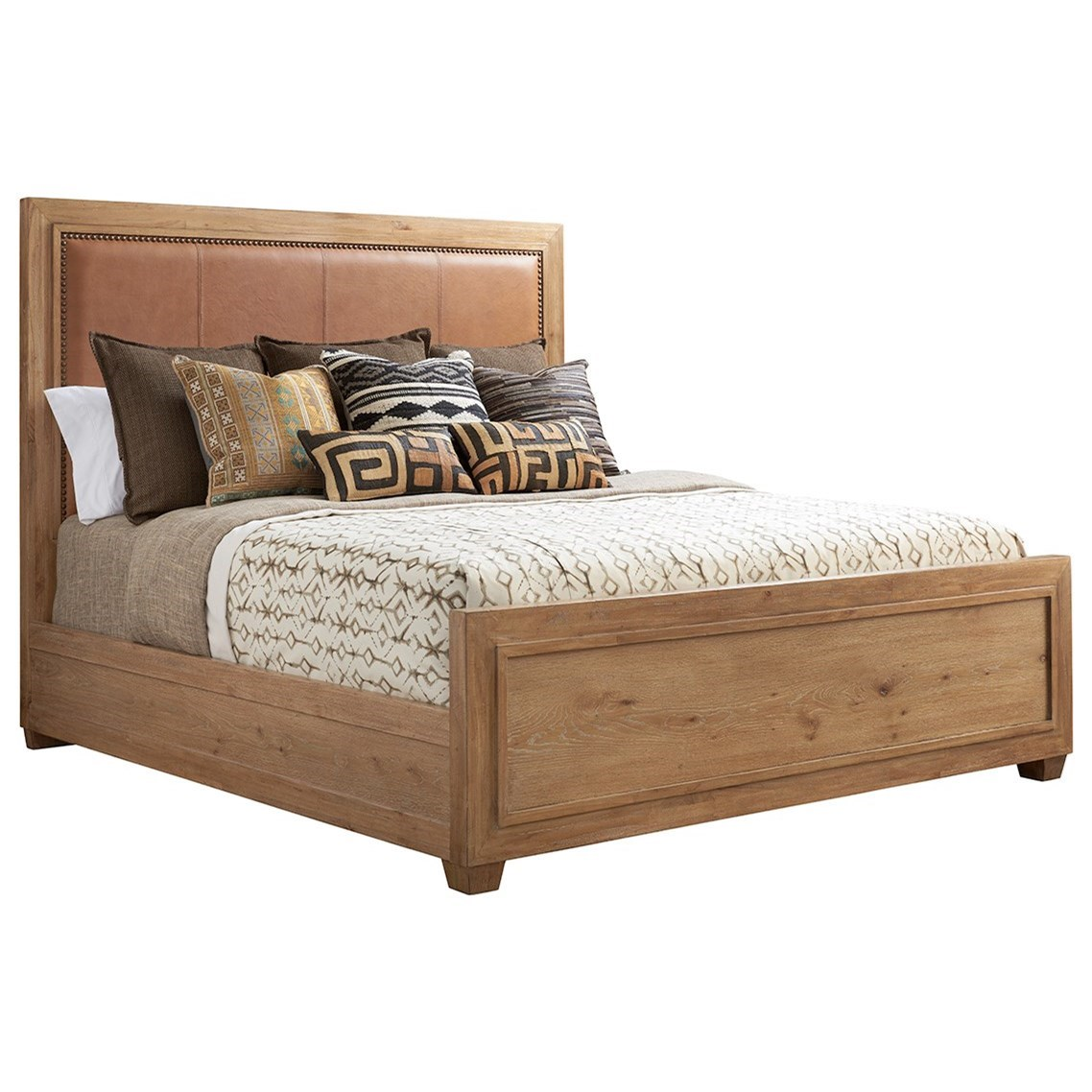 Los Altos Antilles Upholstered Panel Bed 6/6 King by Tommy Bahama Home at Baer's Furniture