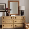 Tommy Bahama Home Los Altos Dresser + Mirror Set - Item Number: 566-222+566-205