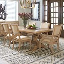 Tommy Bahama Home Los Altos 7 Pc Dining Set - Item Number: 566-877C+2X566-881-01+4X566-880-01