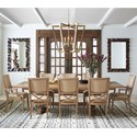 Tommy Bahama Home Los Altos 9 Pc Dining Set - Item Number: 566-877C+6X566-880-01+2X566-881-01