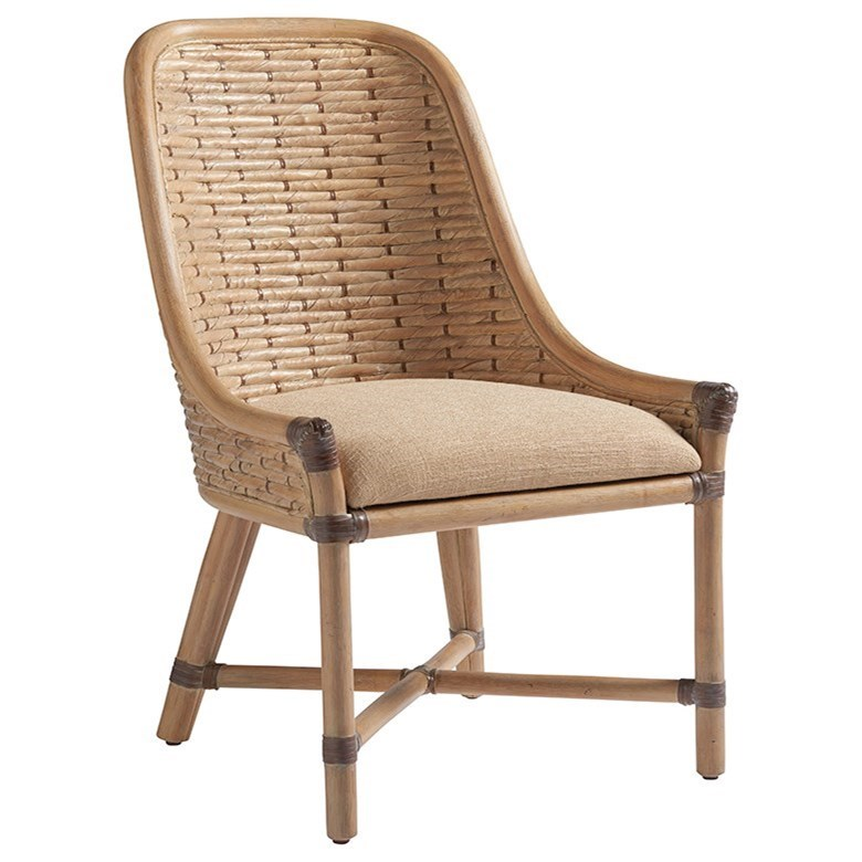 Tommy Bahama Home Los Altos Keeling Woven Side Chair - Item Number: 566-882-01