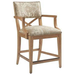 Tommy Bahama Home Los Altos Sutherland Upholstered Counter Stool