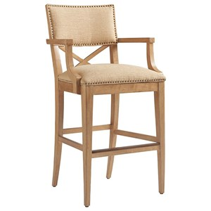Tommy Bahama Home Los Altos Sutherland Upholstered Bar Stool