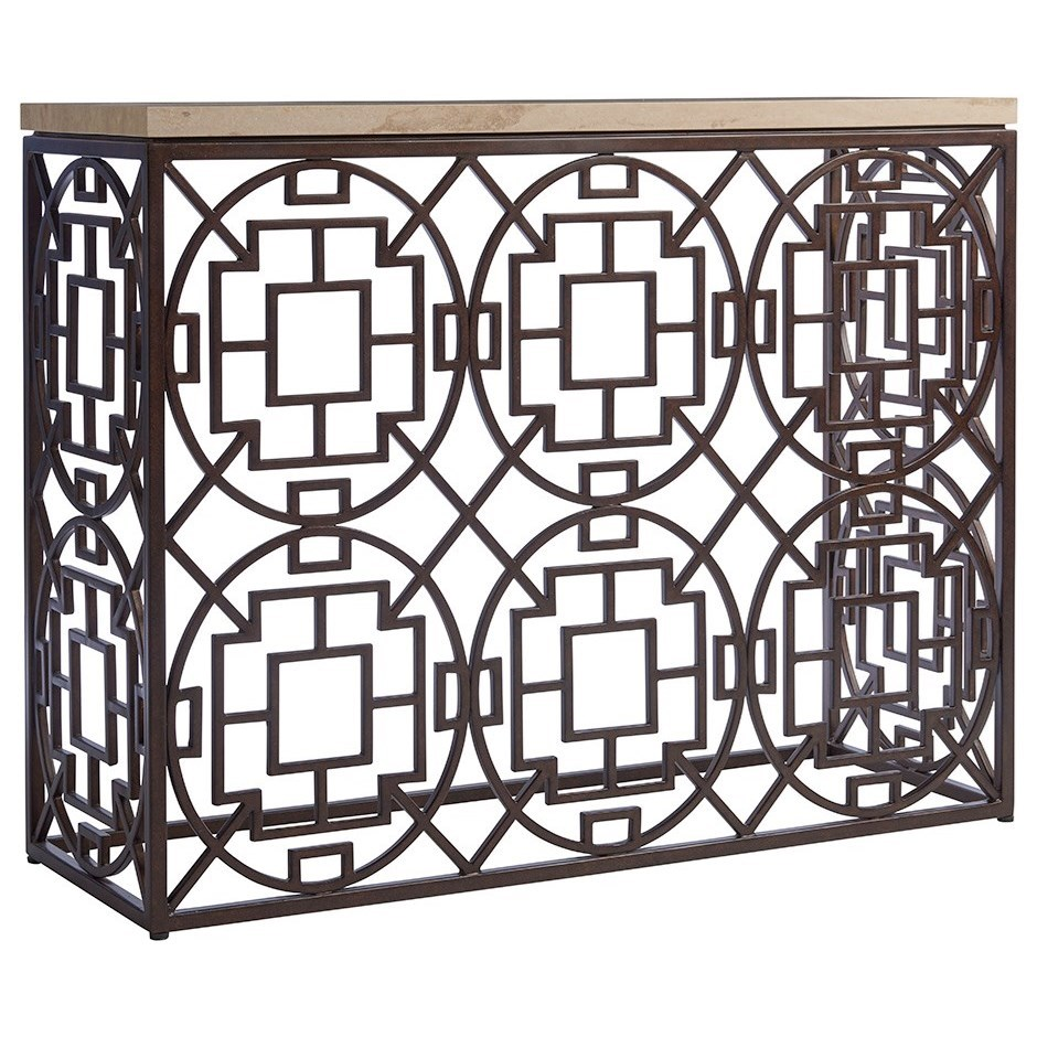 Los Altos Ackermann Metal Console by Tommy Bahama Home at Baer's Furniture