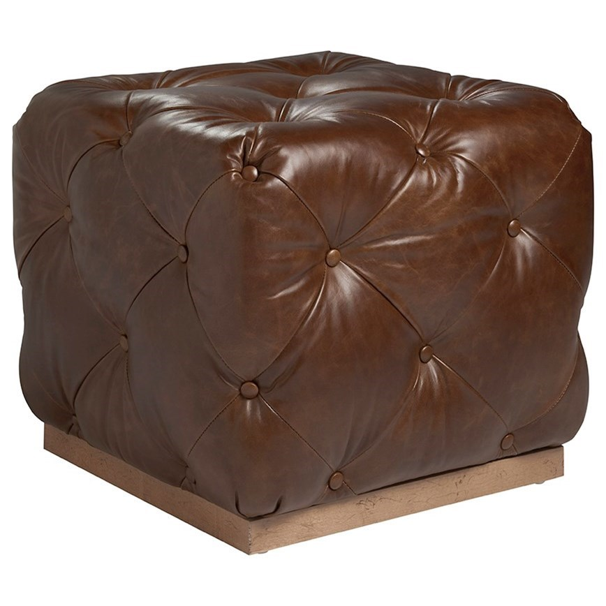 Los Altos Auburn Cubed Ottoman by Tommy Bahama Home at Baer's Furniture