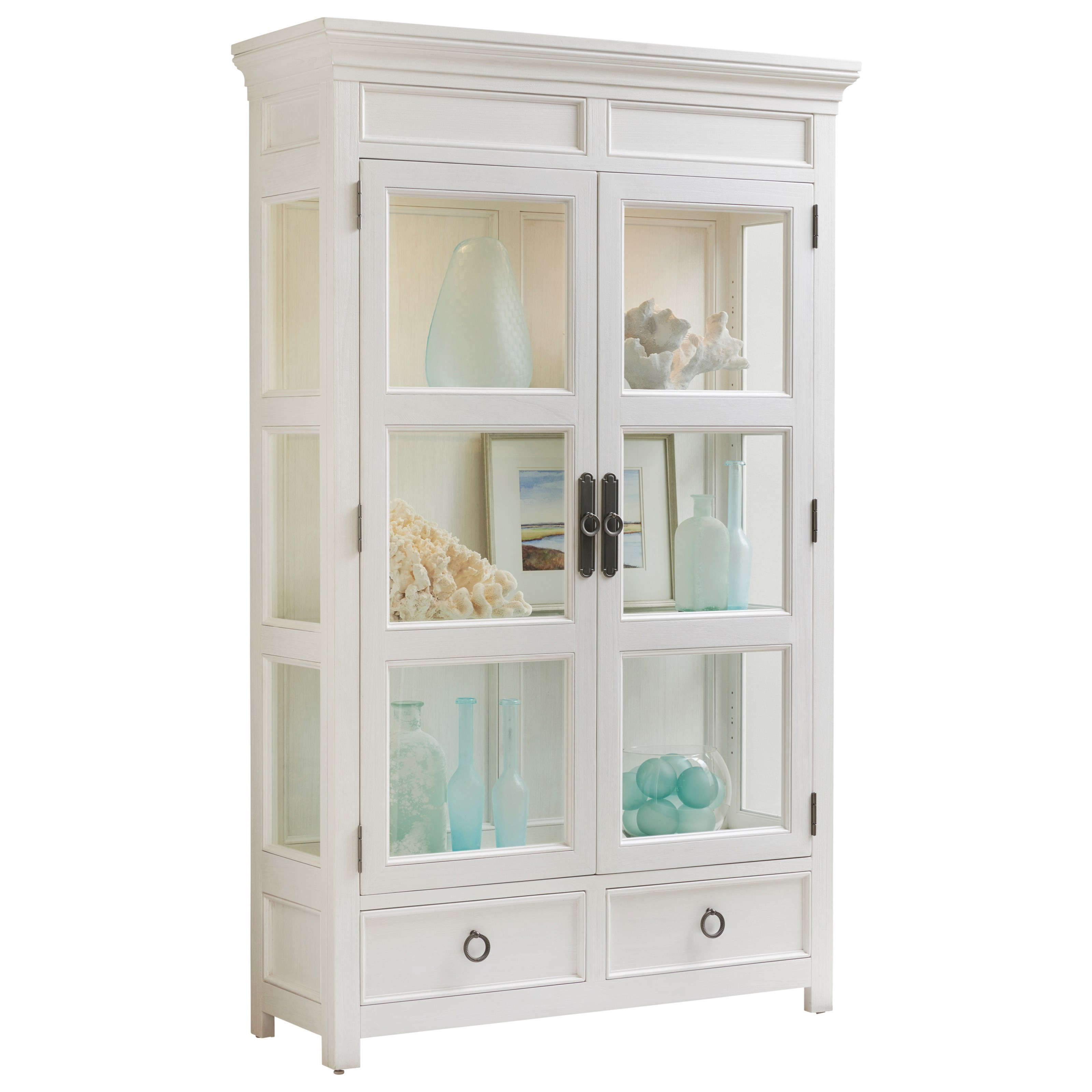 Ocean Breeze Sanctuary Curio China by Tommy Bahama Home at Baer's Furniture