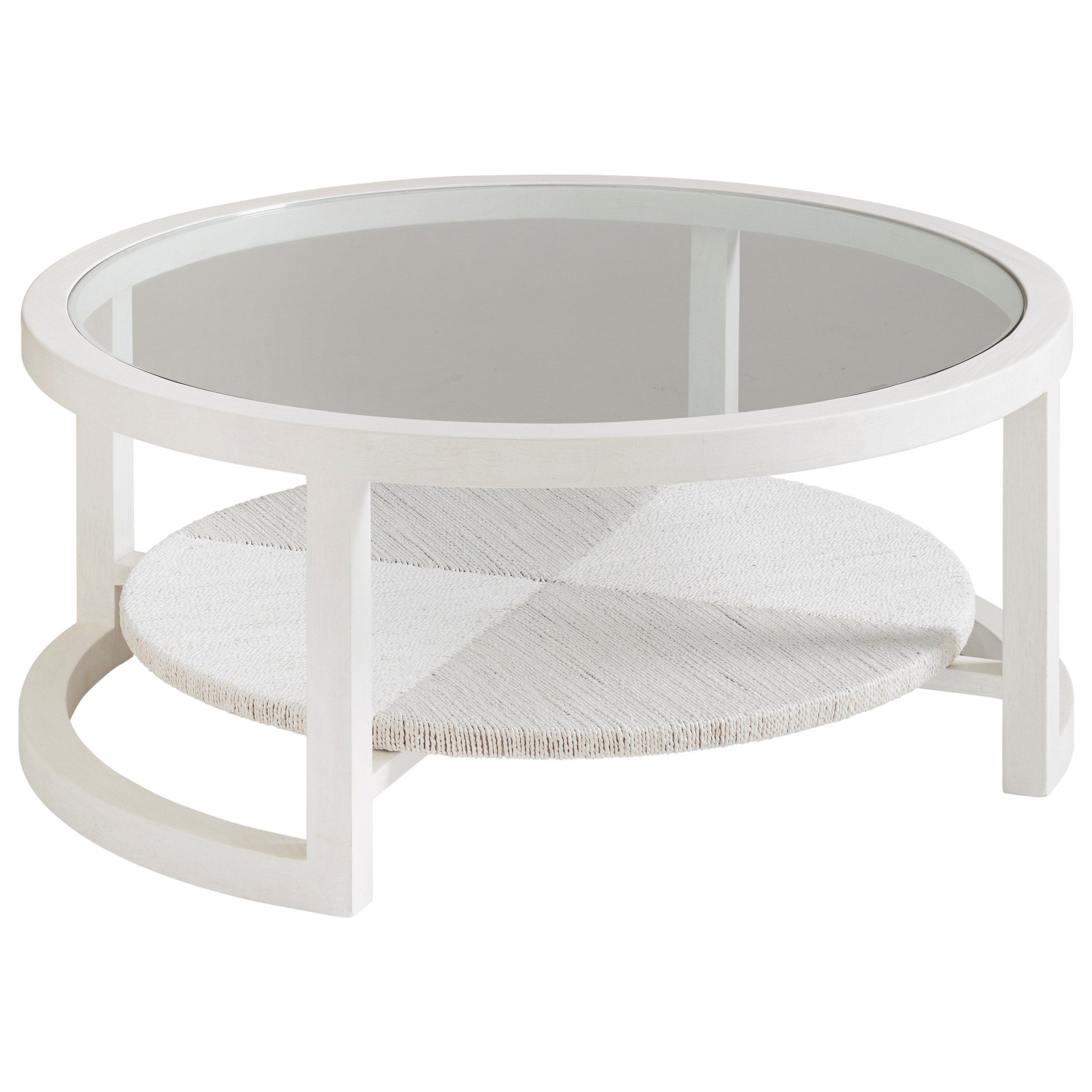 Ocean Breeze Pompano Round Cocktail Table by Tommy Bahama Home at Baer's Furniture