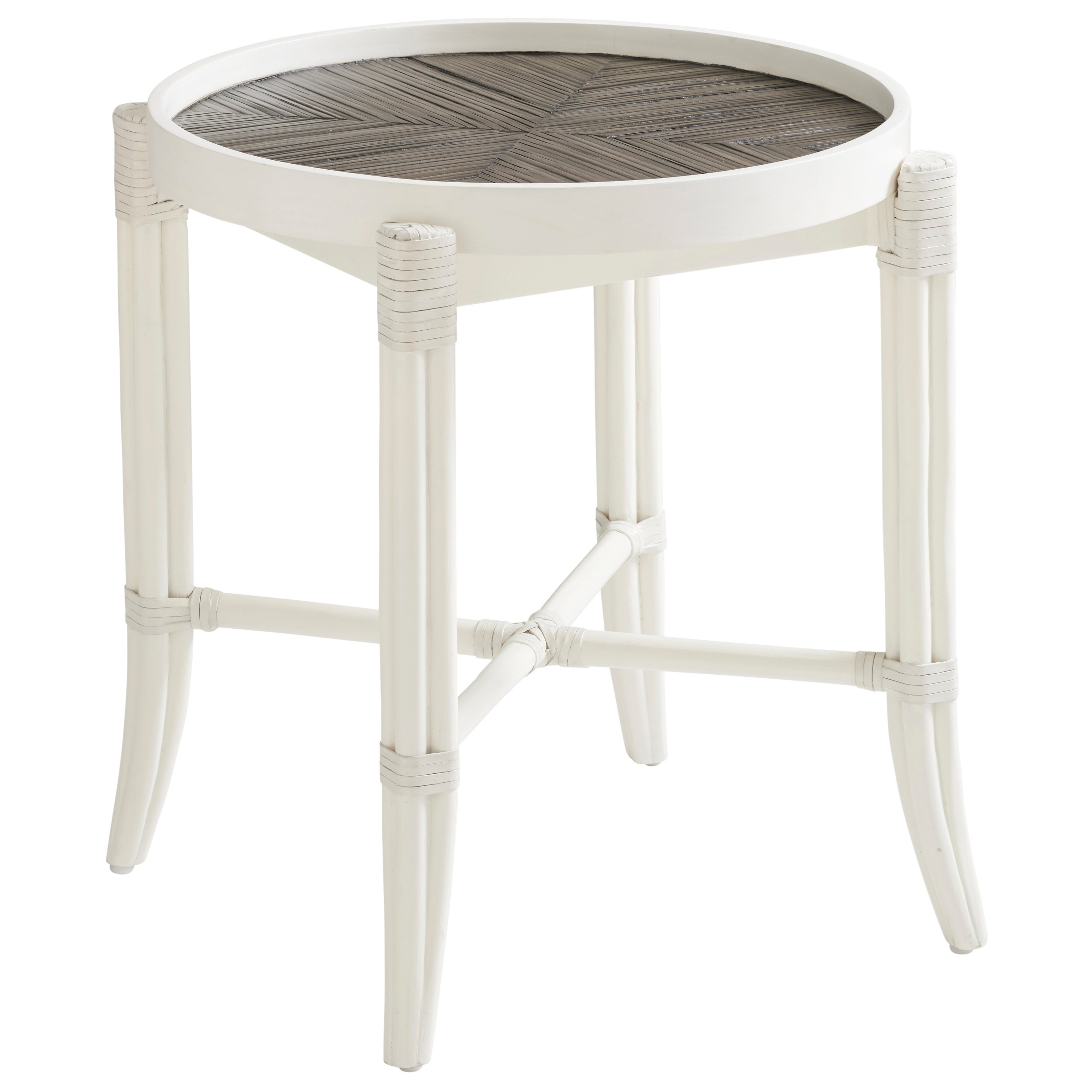 Ocean Breeze Neptune Round End Table by Tommy Bahama Home at Baer's Furniture