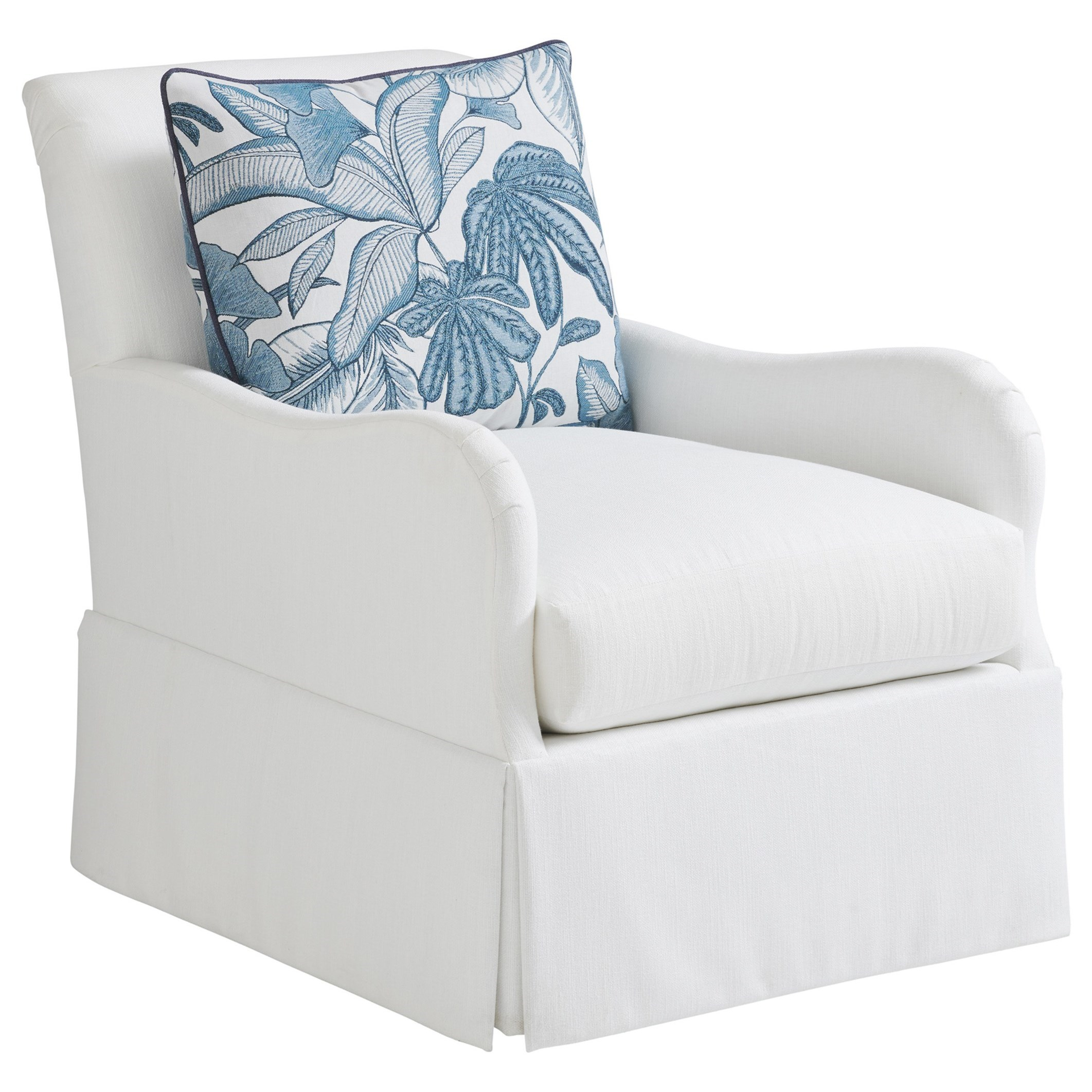 Ocean Breeze Palm Frond Swivel Chair by Tommy Bahama Home at Baer's Furniture