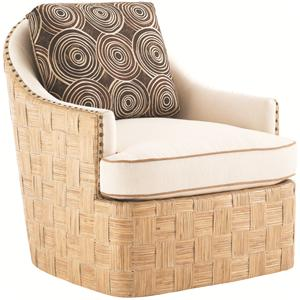 Tommy Bahama Home Road To Canberra Byron Bay Swivel Chair