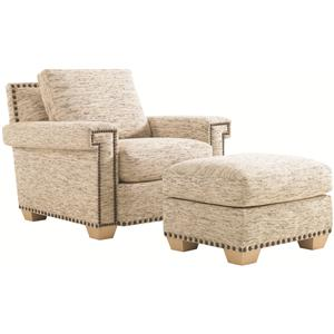 Tommy Bahama Home Road To Canberra Torres Chair & Ottoman