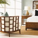 Tommy Bahama Home Ocean Club Exposed Grid Pattern Wood Abaco Chair