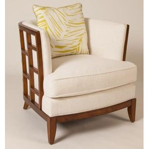 Exposed Grid Pattern Wood Abaco Chair