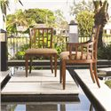 Tommy Bahama Home Ocean Club <b>Quick Ship</b> Lanai Side Chair with Geometric Pattern - Shown with Lanai Arm Chair