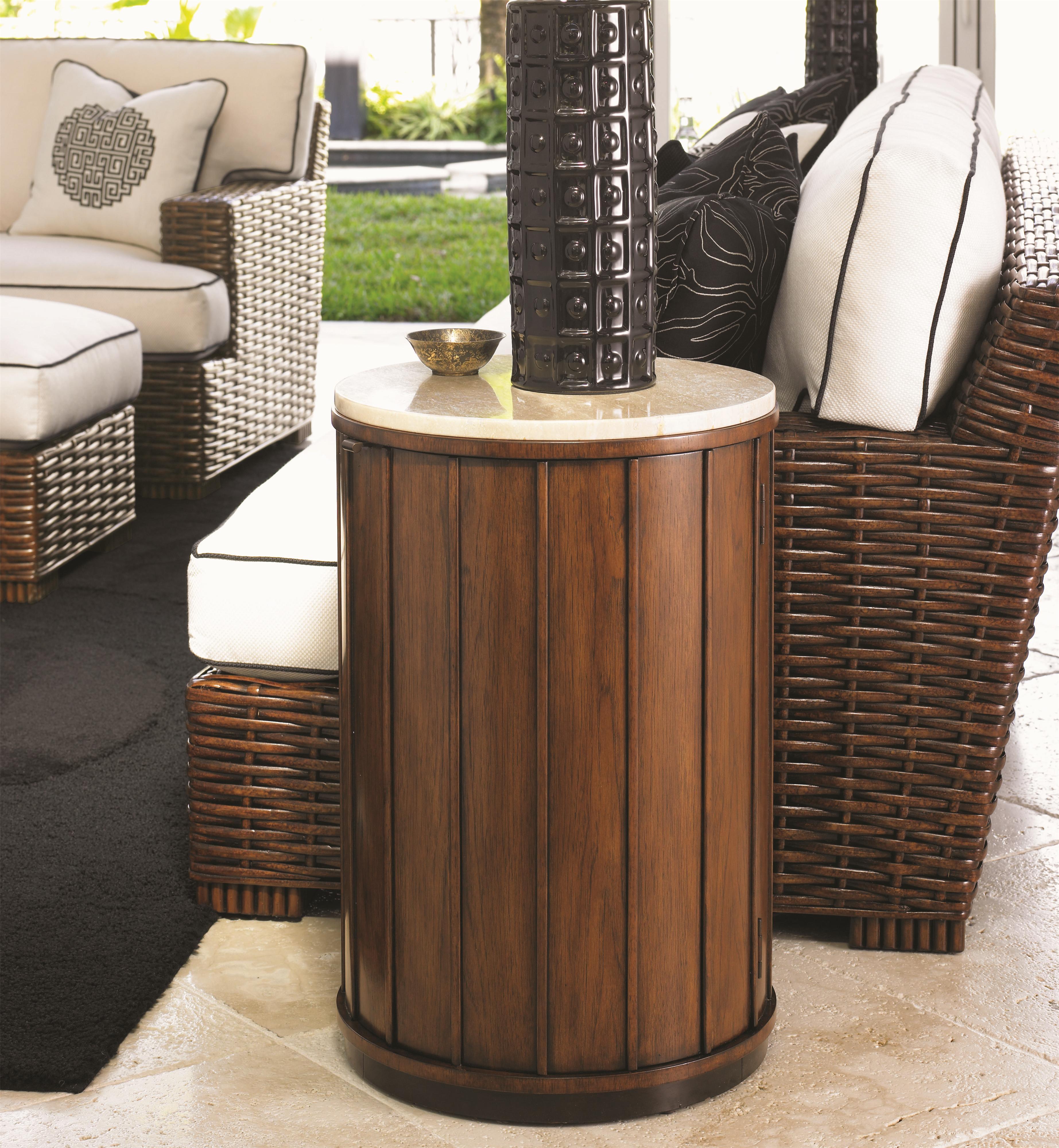 Tommy Bahama Home Ocean Club Fiji Drum Table - Item Number: 536-950C