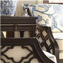 Tommy Bahama Home Royal Kahala Bay Club Chair with Quatrefoil Design Sides - The Quatrefoil Design Makes a Magnificent Pop