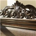 Tommy Bahama Home Royal Kahala King-Size Harbour Point Headboard with Rattan Panel - Removable Pediment on Headboard