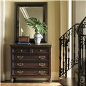 Tommy Bahama Home Royal Kahala Landscape Mirror with Textured Frame - Shown with Bottega Dressing Chest