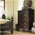 Tommy Bahama Home Royal Kahala Seven-Drawer Mauna Chest with Jewelry Storage - Shown with Harbour Point Bed