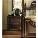 Tommy Bahama Home Royal Kahala Three-Drawer Orchid Nightstand - Shown with Harbour Point Bed