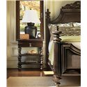 Tommy Bahama Home Royal Kahala One-Drawer Haven Nightstand with Two Woven Wicker Shelves - Shown with Harbour Point Bed
