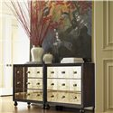 Tommy Bahama Home Royal Kahala Three-Drawer Starlight Mirrored Nightstand with Penn Shell Hardware - Pair Two to Really Make an Eye-Catching Statement