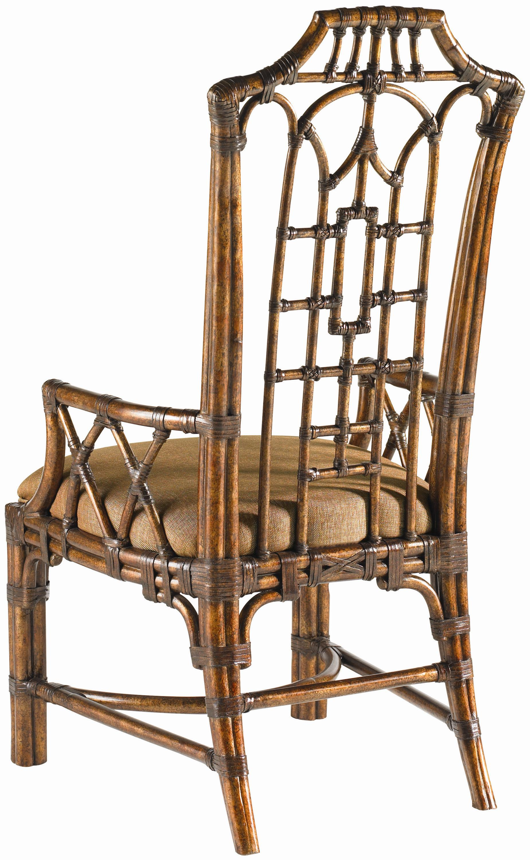 Tommy Bahama Home Royal Kahala Eleven Piece Islands Edge Dining Table Pacific Rim Chairs Set