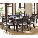 Tommy Bahama Home Royal Kahala Seven-Piece Islands Edge Dining Table & Molokai Chairs Set