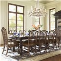 Tommy Bahama Home Royal Kahala Islands Edge Rectangular Leg Dining Table - Shown with Pacific Rim Arm and Side Chairs