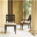 Tommy Bahama Home Royal Kahala Customizable Molokai Side Chair with Upholstered Seat - Shown with Molokai Arm Chair