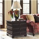 Tommy Bahama Home Royal Kahala Three-Drawer Black Sands Lamp Table - Shown with Edgewater Sofa