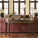Tommy Bahama Home Royal Kahala Banyon Tree Console with Brass Accents - Shown with Edgewater Sofa