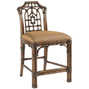 Tommy Bahama Home Royal Kahala Customizable Pacific Rim Counter Stool