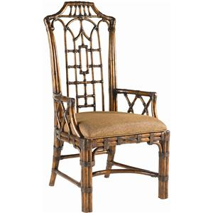 Tommy Bahama Home Royal Kahala Quick Ship Pacific Rim Arm Chair