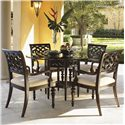 Tommy Bahama Home Royal Kahala 5 Piece Set - Item Number: 539-875+001-054GT+4x537-883