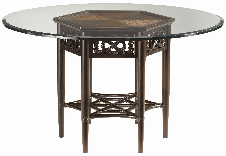 "Royal Kahala 60"" Sugar and Lace Table by Tommy Bahama Home at Baer's Furniture"