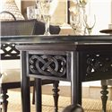 Tommy Bahama Home Royal Kahala Sugar and Lace Table with 60-Inch Round Glass Top - Pierced Detailing on Table Base Gives a Lace-Like Impression