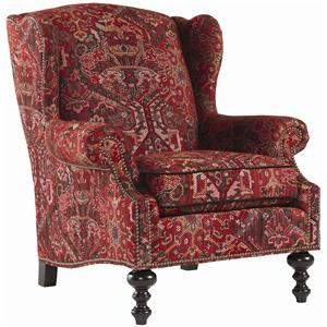 Tommy Bahama Home Royal Kahala Batik Wing Chair