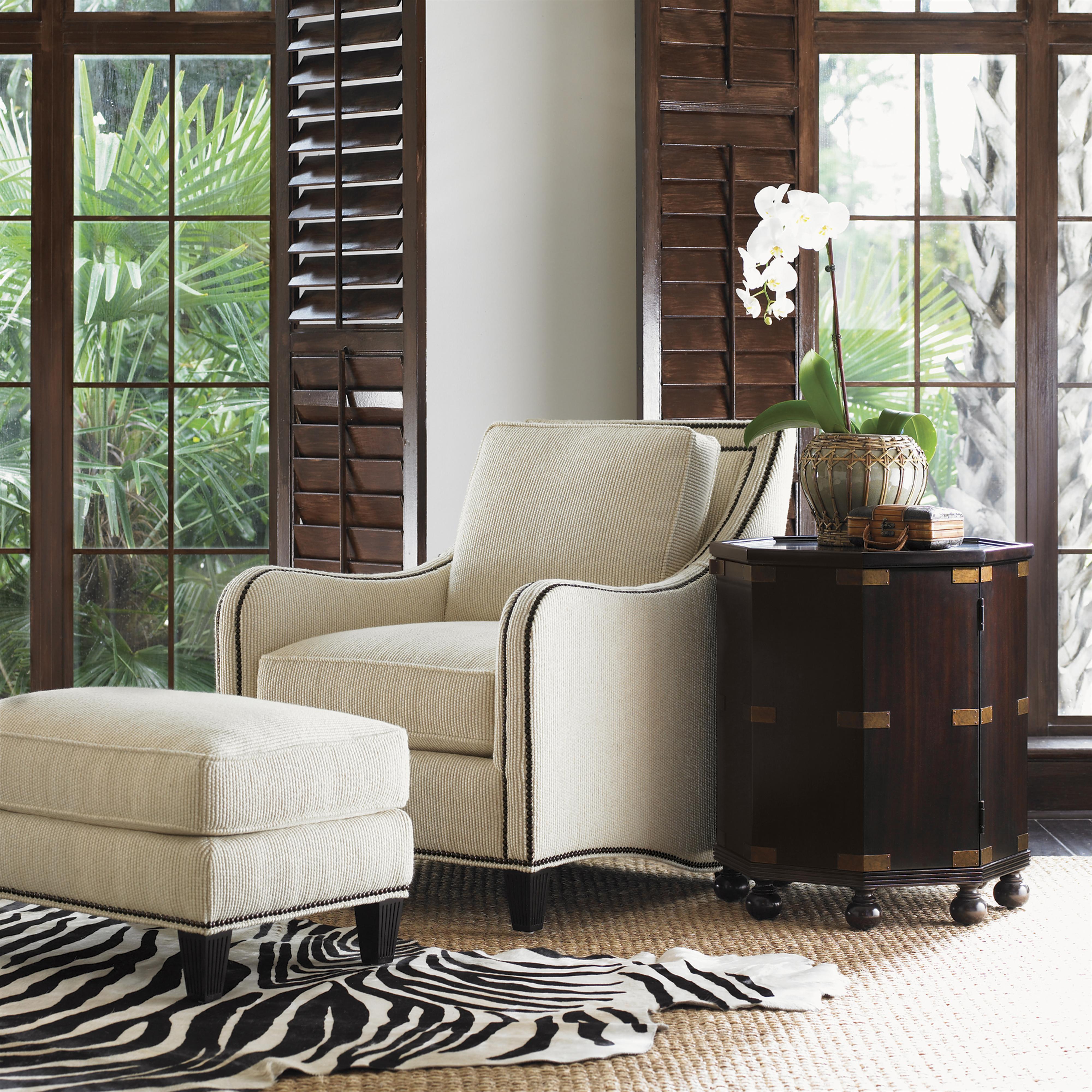 Tommy Bahama Home Royal Kahala Koko Chair Amp Ottoman