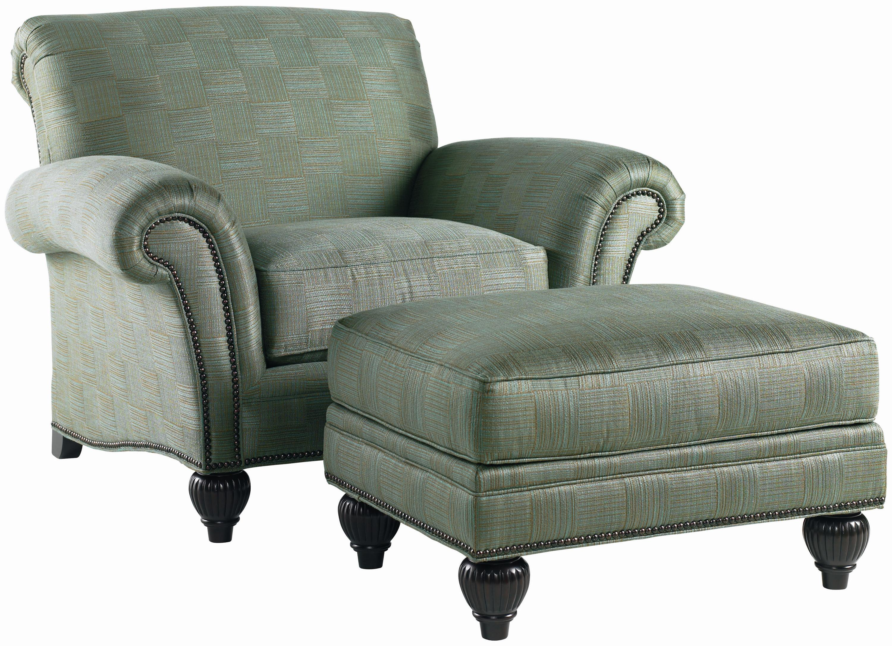 Royal Kahala Edgewater Chair & Ottoman by Tommy Bahama Home at Baer's Furniture