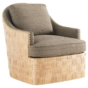 Tommy Bahama Home Tommy Bahama Upholstery Byron Bay Swivel Chair