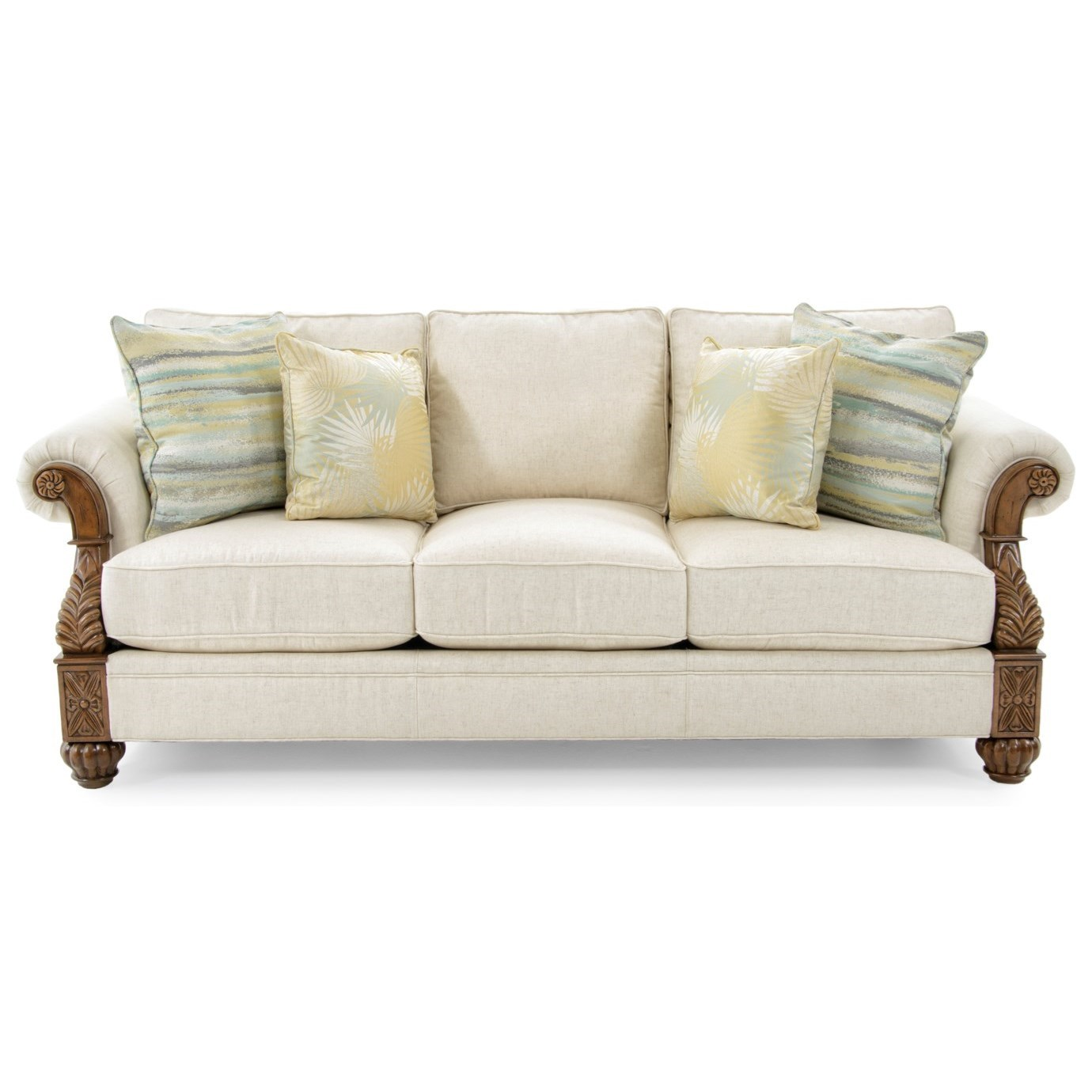 Tommy Bahama Home Tommy Bahama Upholstery Benoa Harbour Sofa Married Fabric - Item Number: 7530-33-02