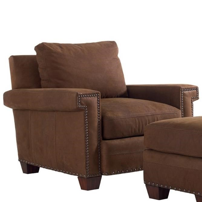 Tommy Bahama Upholstery Quick Ship Torres Leather Chair by Tommy Bahama Home at Baer's Furniture